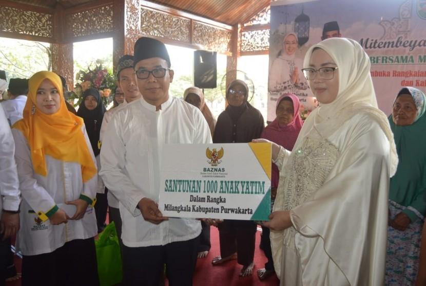 Baznas Purwakarta, menyantuni 1.000 anak yatim, Selasa (16/7).