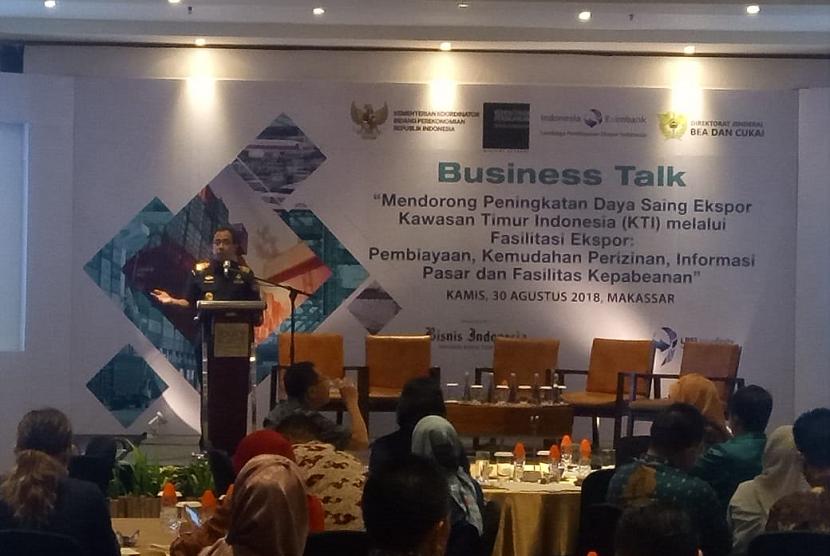 Bea Cukai bekerja sama dengan Lembaga Pembiayaan Ekspor Indonesia (LPEI) menggelar temu wicara dengan eksportir Kawasan Timur Indonesia.