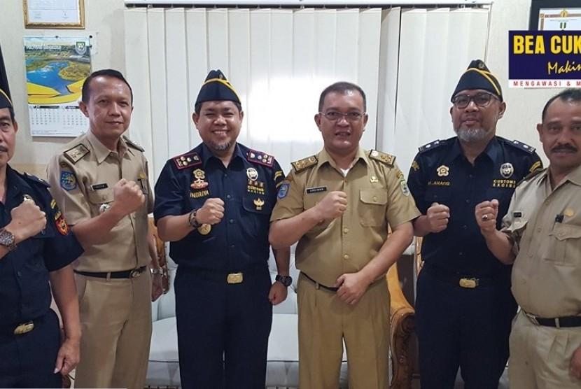 Bea Cukai Bengkulu mengunjungi Dinas Koperasi dan UKM Provinsi Bengkulu, pada Selasa (10/9).