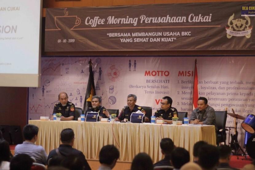Bea Cukai Bogor mengadakan 'Coffee Morning' Selasa (1/10) lalu.