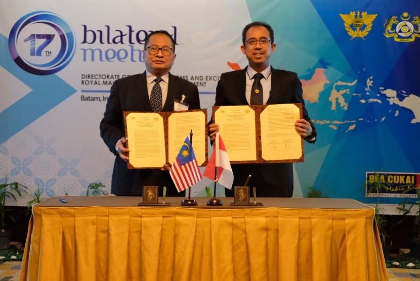 Bea Cukai Indonesia mengadakan pertemuan bilateral dengan Jabatan Kastam Diraja Malaysia (JKDM) pada hari Rabu (7/8).