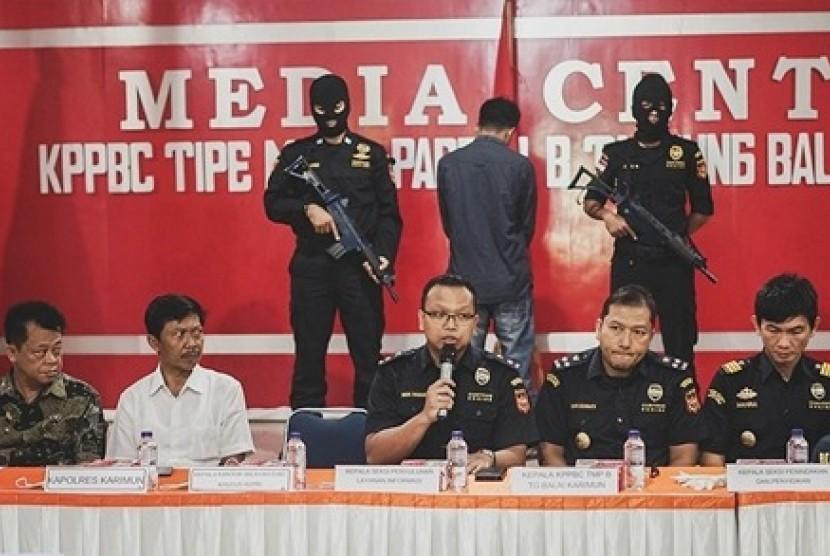 Bea Cukai Tanjung Balai Karimun menggagalkan penyelundupan narkoba
