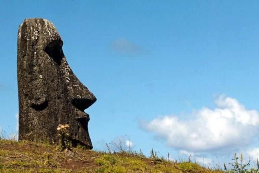 Beberapa patung yang ada di Pulau Paskah