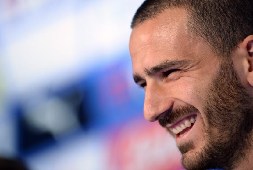 Bek Juventus dan timnas Italia, Leonardo Bonucci.