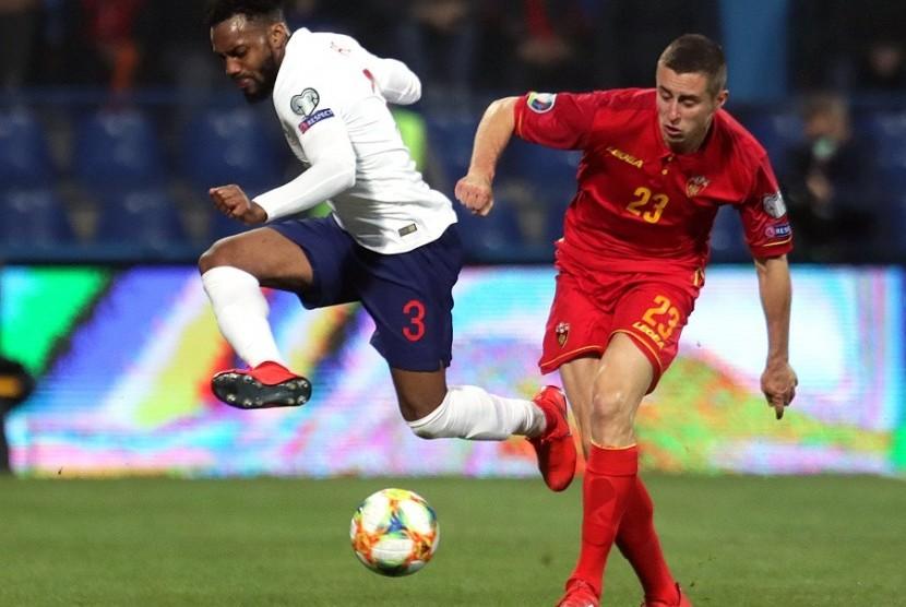 Bek timnas Inggris Danny Rose (kiri) saat menghadapi Montenegro.