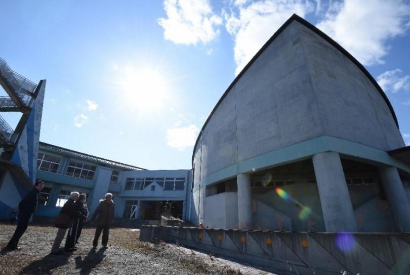 Bekas pembangkit nuklir Fukushima di Jepang.