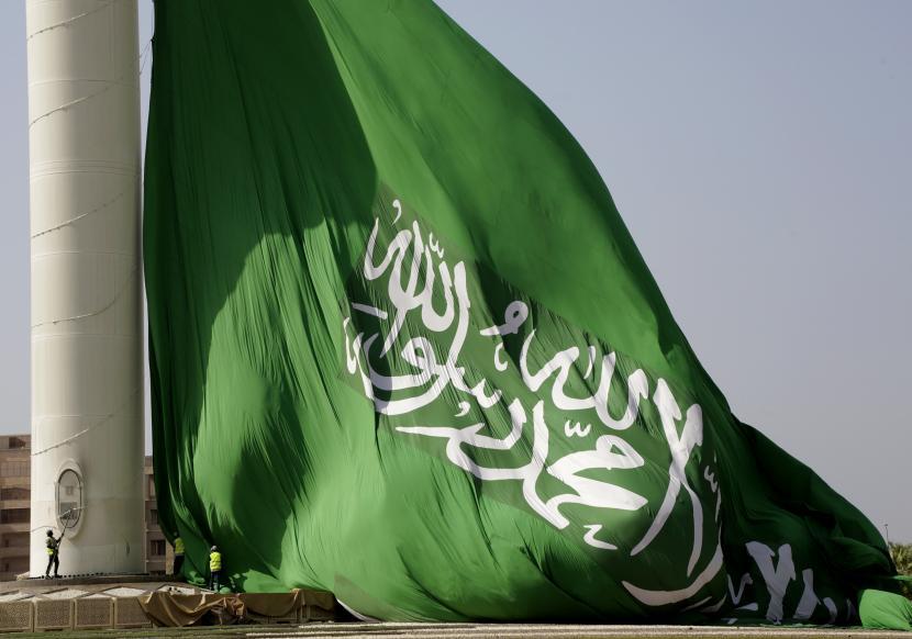 Dukung Pemerintah Yaman, Saudi Jadi Sasaran Teror Houthi. Bendera Arab Saudi