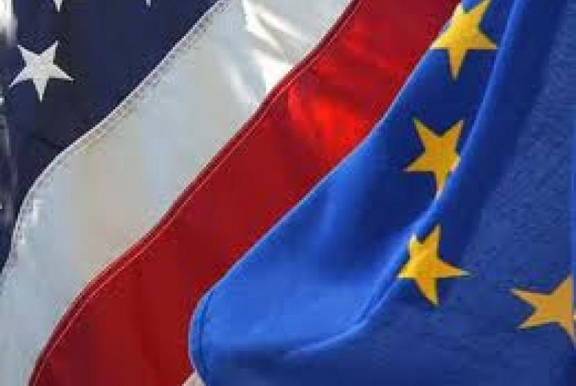 Bendera AS dan UE
