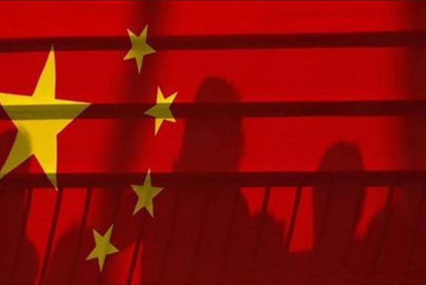 Bendera Cina. Ilustrasi.