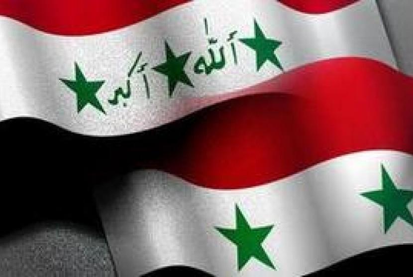 Bendera Irak-Suriah/ilustrasi