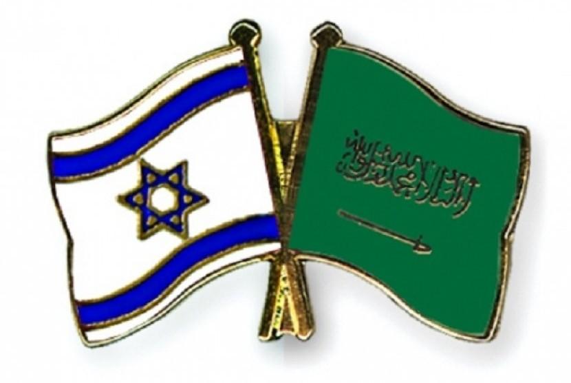 Arab Saudi Tolak Normalisasi Hubungan dengan Israel. Bendera Israel dan Arab Saudi. (Ilutrasi)