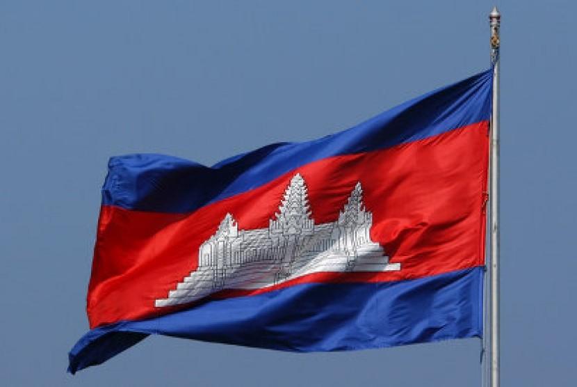 Bendera Kamboja (Ilustrasi)