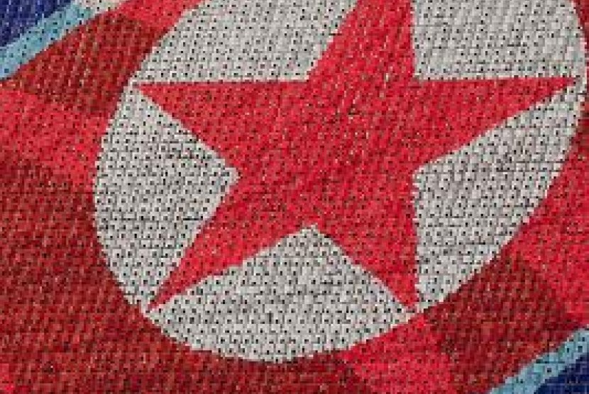 Bendera Korut/ilustrasi