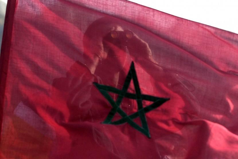 Bendera negara Maroko.