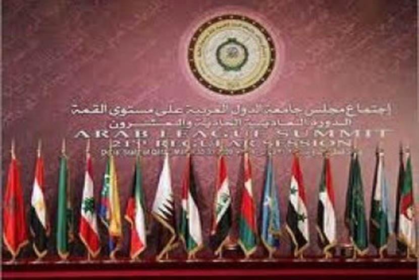 Bendera negara-negara peserta Liga Arab