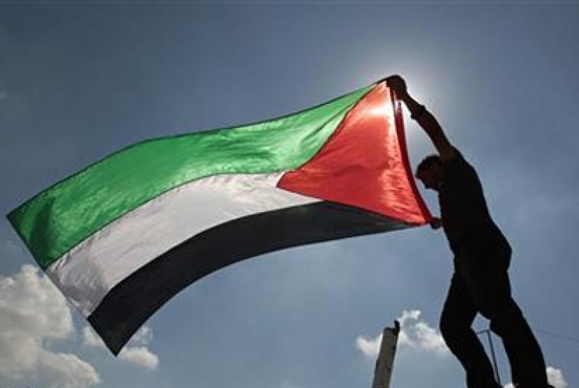 Bendera Palestina. Ilustrasi