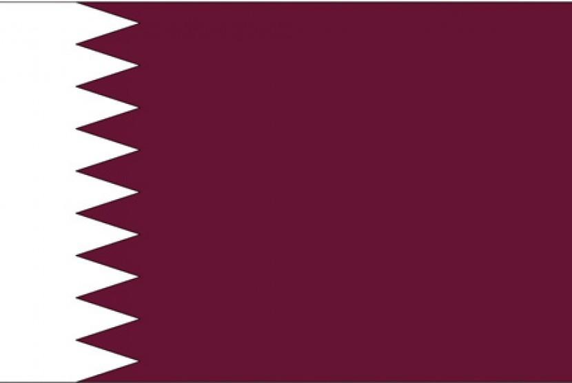Bendera Qatar. Ilustrasi