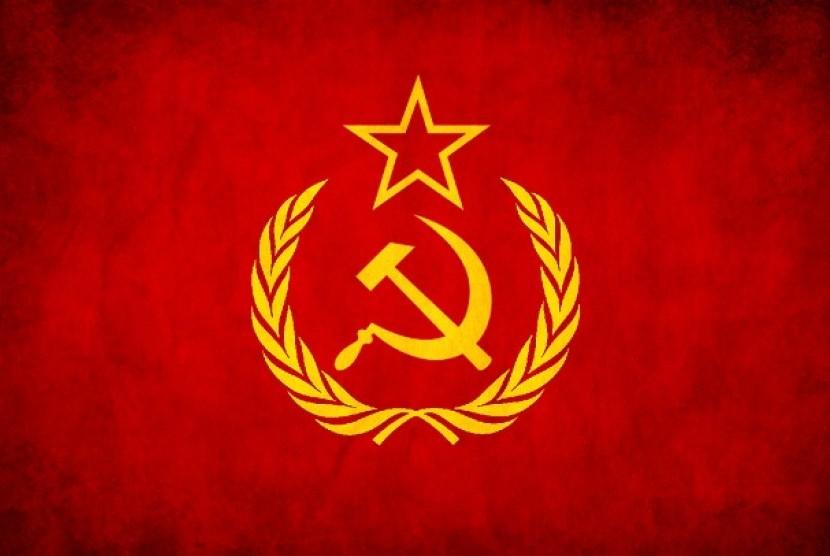 Bendera Uni Soviet.