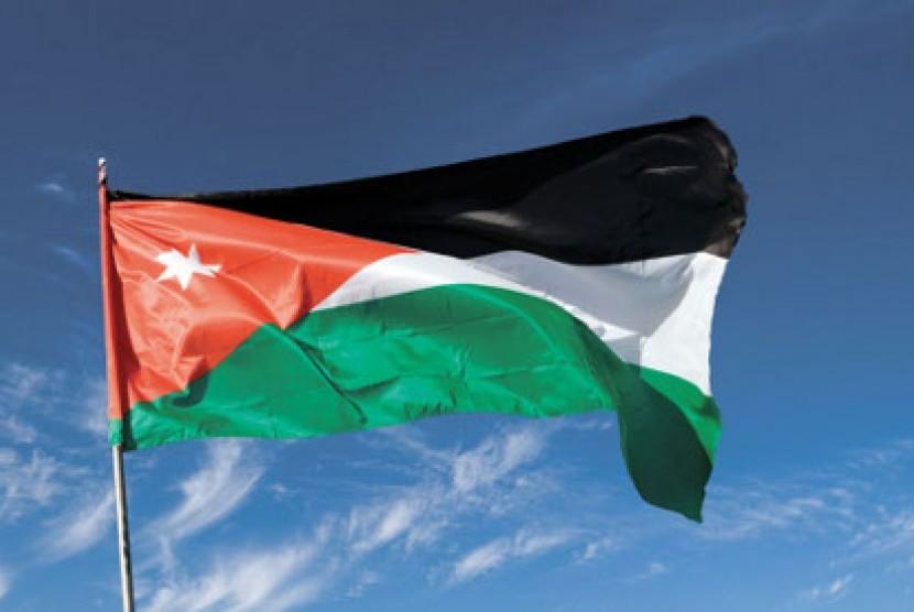 Bendera Yordania (ilustrasi)