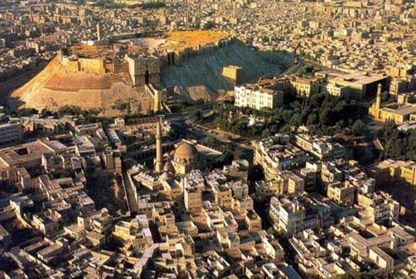 Benteng Aleppo di Suriah.