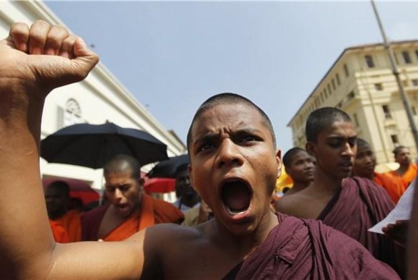 Biksu Budha Srilanka (ilustrasi)