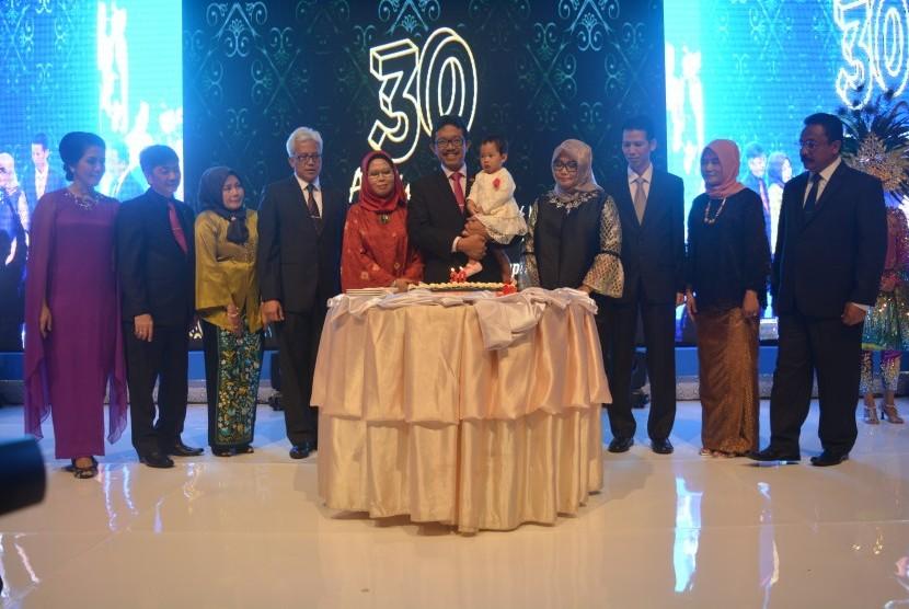 Bina Sarana Informatika (BSI) merayakan syukuran HUT ke-30, di Jakarta, Sabtu (3/3).