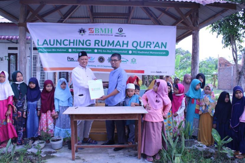 BMH meresmikan tiga Rumah Quran di Deli Serdang, Sumatera Utara, Selasa (14/9).