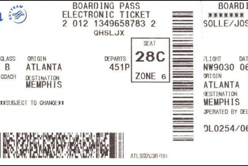 Boarding Pass. Ilustrasi