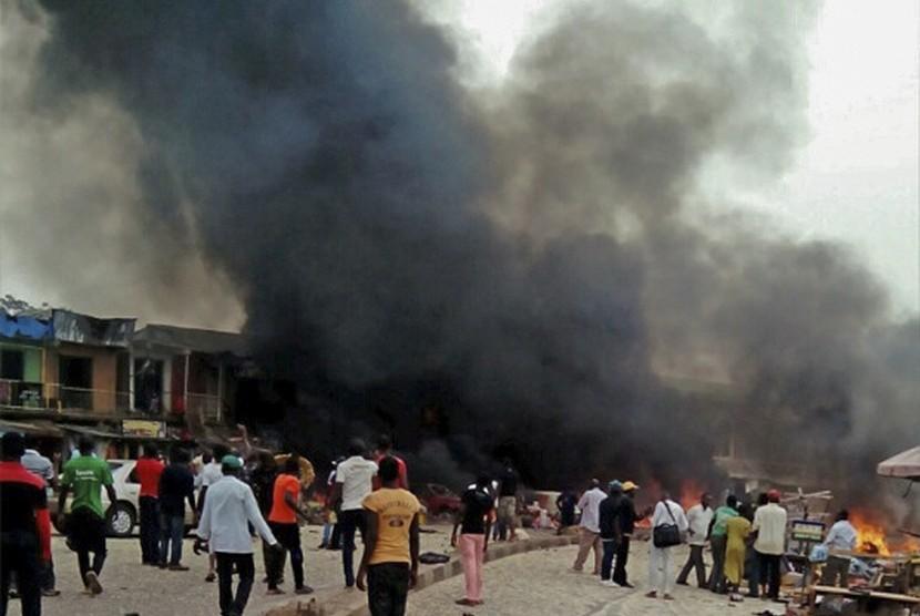 Bom bunuh diri mengguncang wilayah Nigeria (ilustrasi)