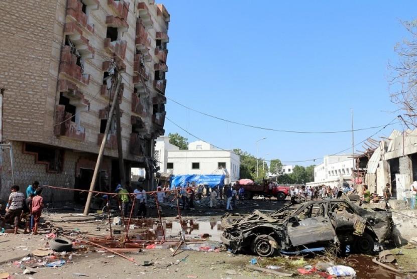 Bom mobil di Aden, Yaman. (ilustrasi)