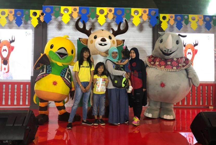 Booth INASGOC di Jakarta Fair Kemayoran, untuk promosi Asian Games 2018