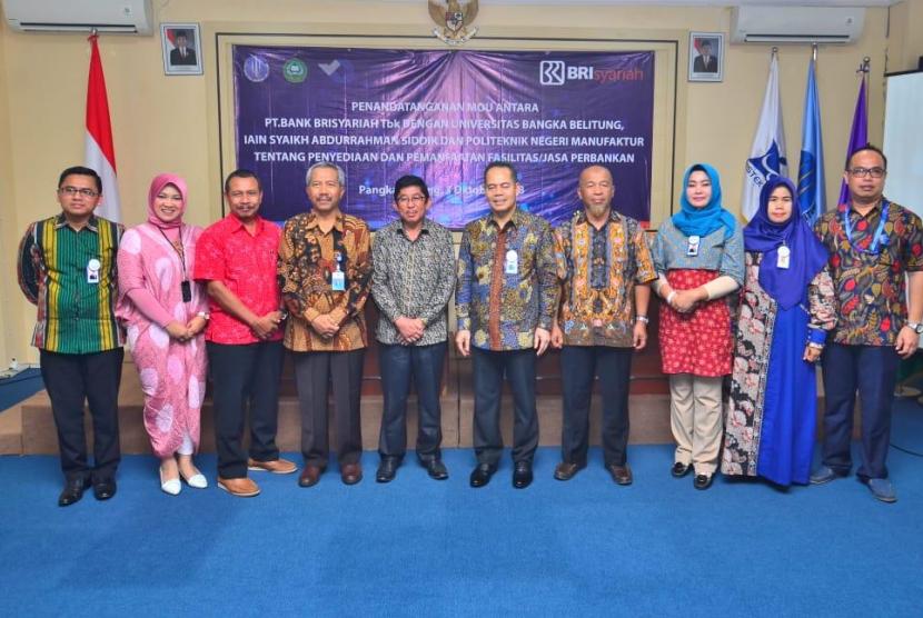 BRIsyariah menjalin kerja sama dengan tiga universitas di Bangka Belitung.