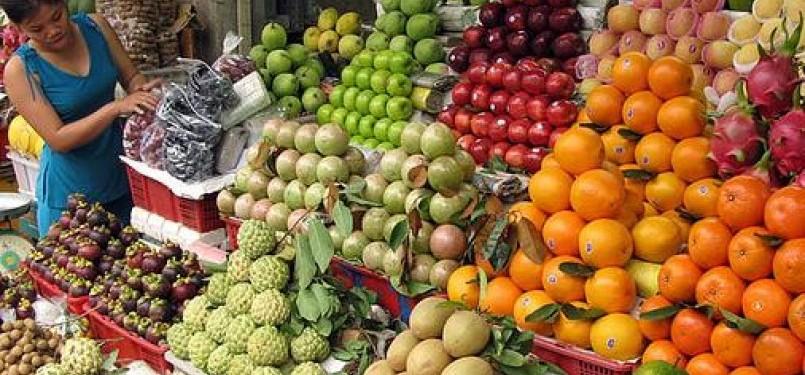 Buah lokal kalah saing dari buah impor. Ilustrasi