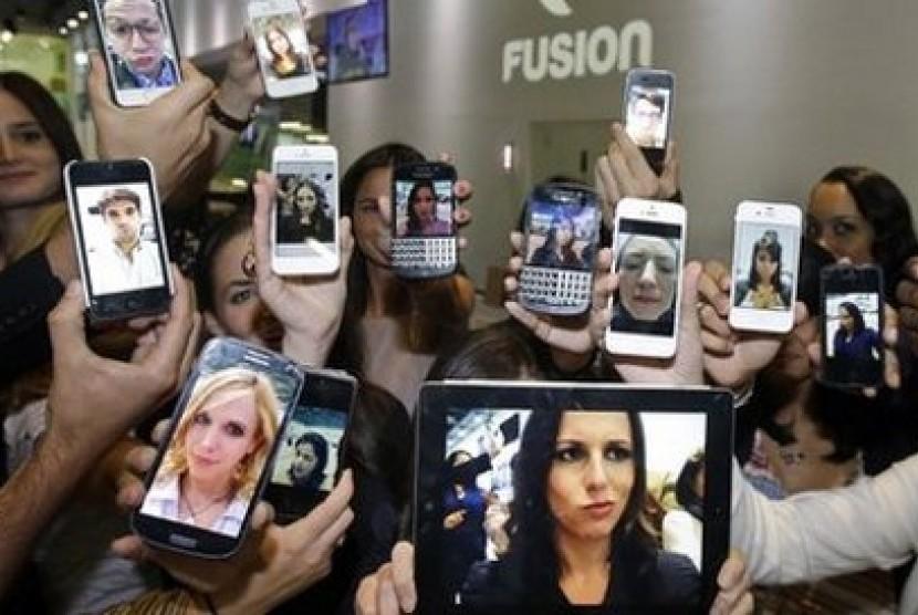 Budaya obsesi selfie (ilustrasi)
