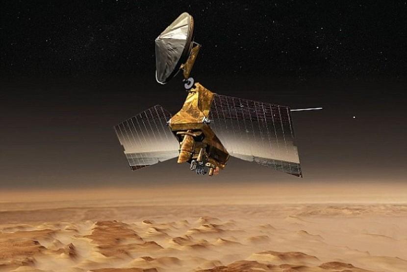Bukit pasir yang diduga ada di Planet Mars.