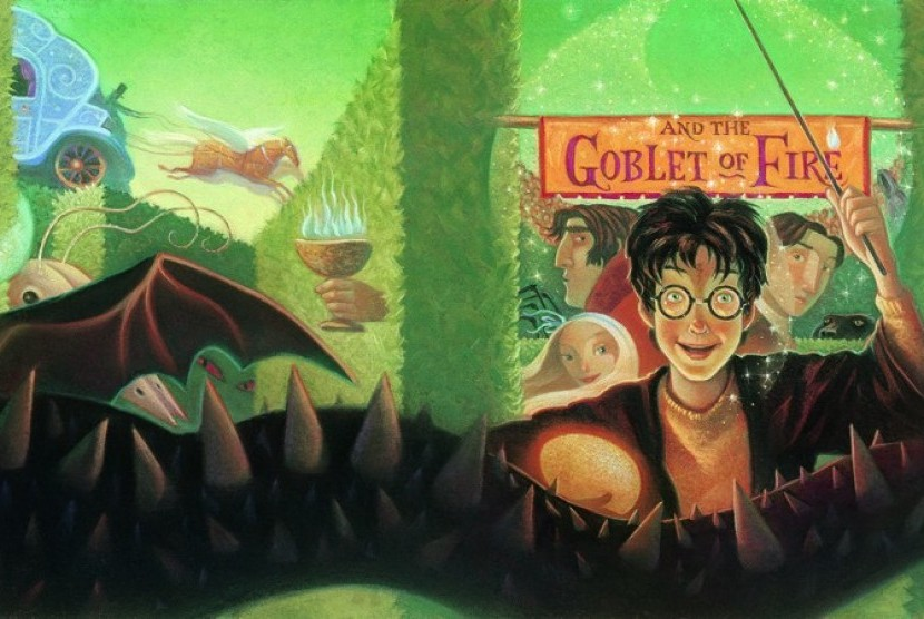 Buku Harry Potter and the Goblet of Fire (Harry Potter dan Piala Api).