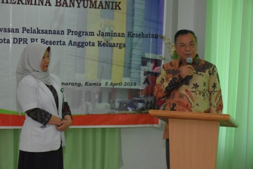 BURT DPR memantau pelayanan Jamkestama RS Hermina Semarang.
