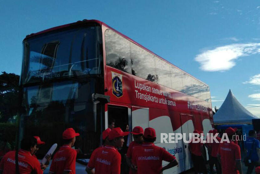 Bus Wisata Transjakarta, tarif gratis mengunjungi obyek wisata di Jakarta.