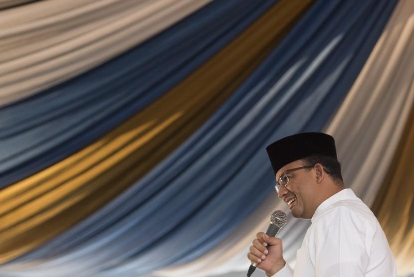 Calon Gubernur (Cagub) DKI Jakarta nomor urut tiga Anies Baswedan