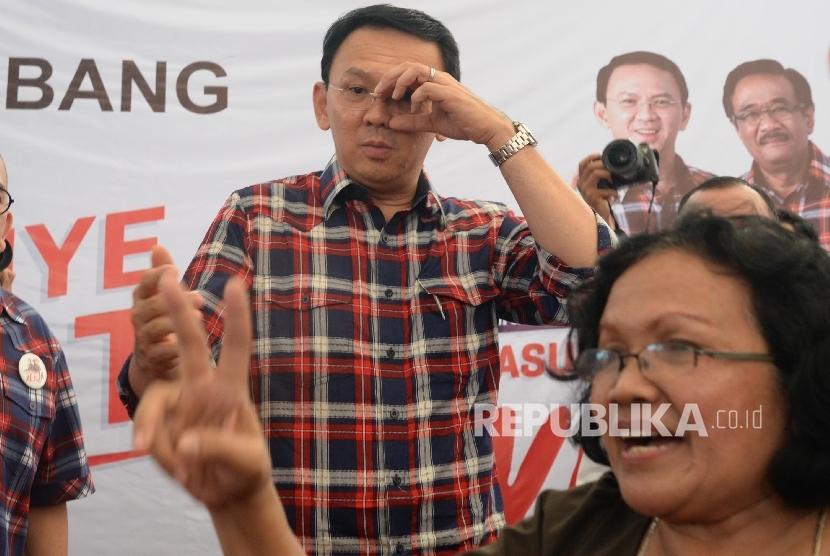 Calon Gubernur DKI Jakarta Basuki Tjahaja Purnama atau Ahok
