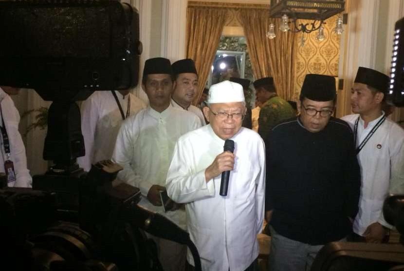 Calon wakil presiden (cawapres) Ma'ruf Amin.