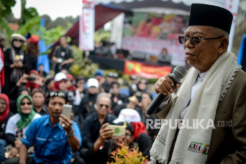 Calon Wakil Presiden nomor urut 01 Maruf Amin