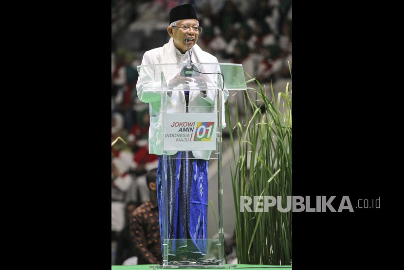 A vice president candidate of incumbent President Joko Widodo (Jokowi), Ma'ruf Amin.