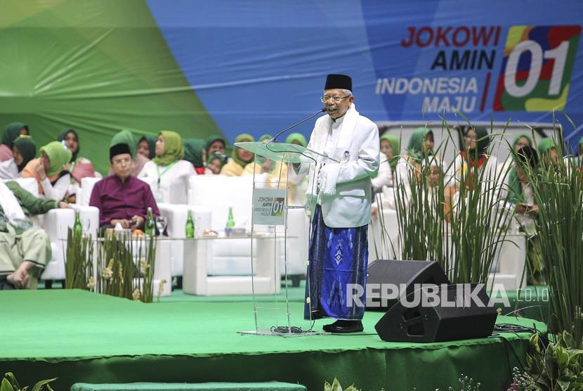 Vice president candidate 01 Ma'ruf Amin.