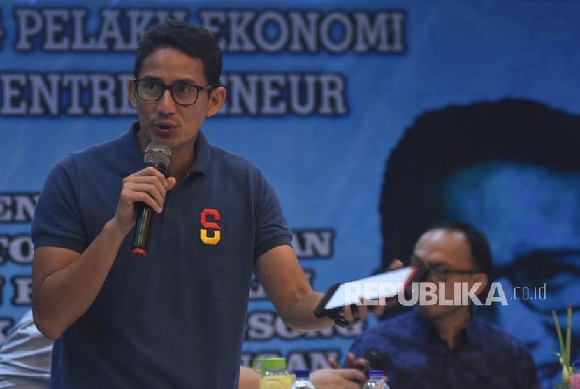 Calon Wakil Presiden nomor urut 02 Sandiaga Salahuddin Uno