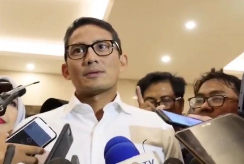 Calon wakil presiden, Sandiaga Uno