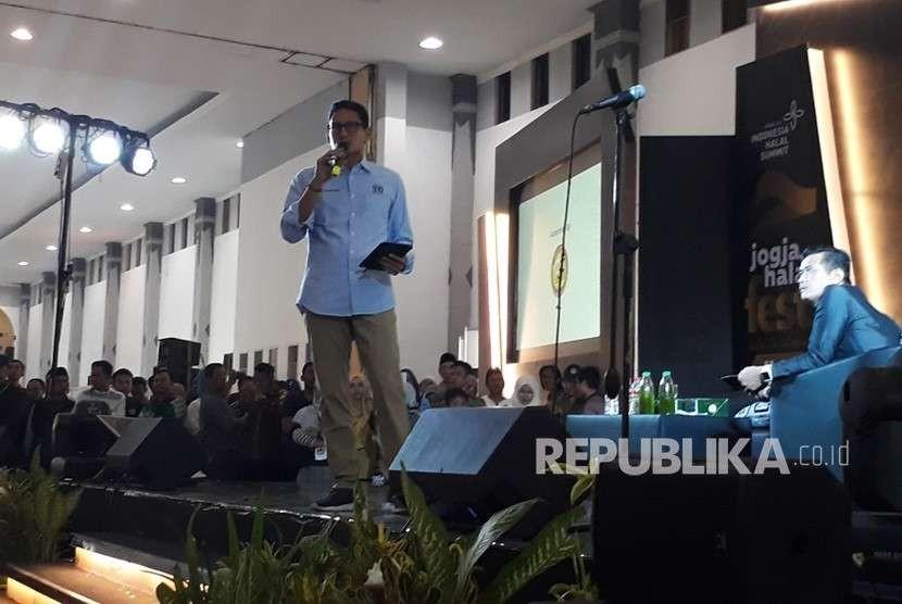 Vice presidential candidate Sandiaga Uno