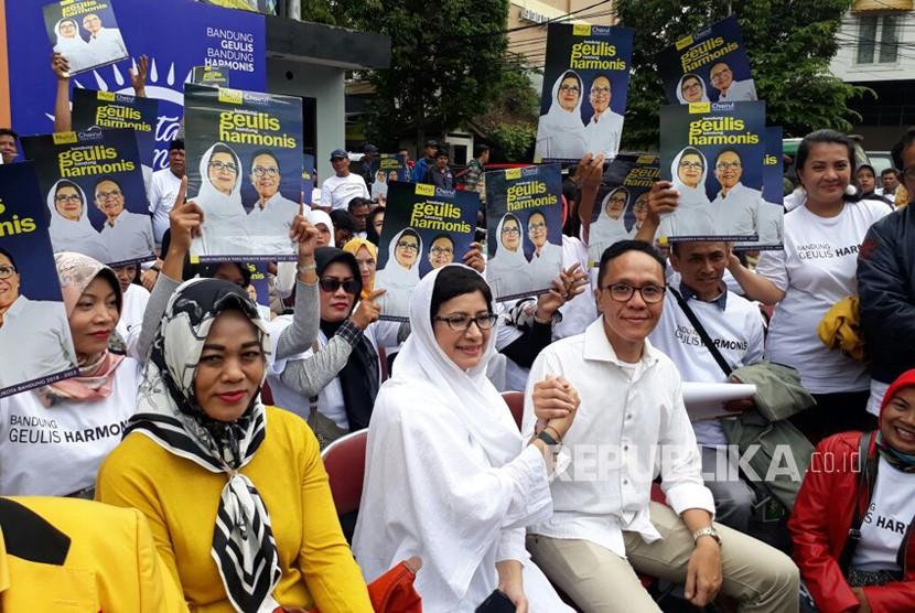 Cawalkot Bandung, Nurul Arifin-Chairul Yaqin akan Daftar Cawalkot Bandung, Rabu (10/1) ke KPU Kota Bandung. Nurul meresmikan Posko Relawannya di Jln Tamblong Kota Bandung, Ahad (7/1).