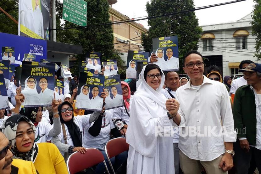 Pasangan calon wali kota dan wakil wali kota Bandung, Nurul Arifin-Chairul Yaqin