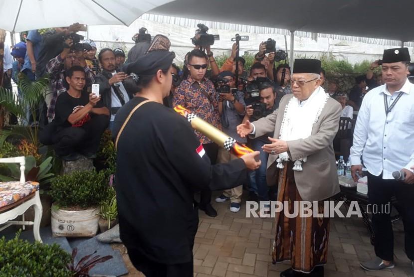 Vice presidential candidate number 01, KH Ma'ruf Amin visits Bandung Barat, West Java, Sunday (Jan 20).